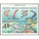 1999 - Mi 1548 to 1555 - Fishes - UNPERFORATED - MNH