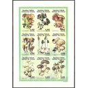 1999 - Mi 1393 to 1401 - Mushrooms - UNPERFORATED - MNH