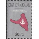 1999 - ETAT d'AJOUAN - Map and flag of the island - fiscal stamp 50 Fc - MNH