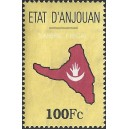 1999 - ETAT d'ANJOUAN - Map and flag of the island - fiscal stamp 100 Fc - MNH