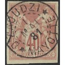 1881 - genrale issues of french colonies - Sage 40 c - cancelled D'zaoudzi Mayotte - CV 105 Euro