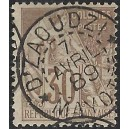 1881 - genrale issues of French colonies - Alphée Dubois 30 c - cancelled D'zaoudzi Mayotte - CV 245 Euro