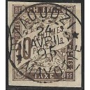 1881 - General issues of French colonies - Postage due st. 10 c gray brown - cancelled D'zaoudzi Mayotte
