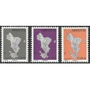 2011 - Mayotte - Map of the island - new color shades - Phil@poste - 3 st. - MNH