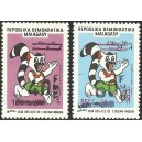 1998 - Mi 2097/2098 - Local overprint - Island Games - Cat - pair MNH