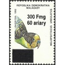1998 - Mi 2103 - surcharge locale 300 Fmg - Perroquet : melopsittacus **