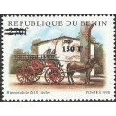 2000 - Mi 1301 - local overprint 150 f - Horse-draw wagon (XIXth cent.), fire fighting - CV 100 € MNH