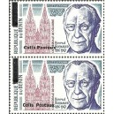 2002 - parcel Mi P 49 types 1 and 2 adjoining - local overprint - Konrad Adenauer - Cologne Cathedral - MNH