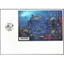 2012 - Mayotte - FDC tropical fishes (sheetlet)