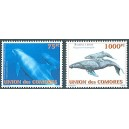 Comoros 2003 - Mi 1793 and 1794 - cetaceans: dolphins and whales - 2 st. - MNH