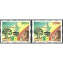 Senegal 2010 - 50 years of independence - baobab, lion, flag - MNH