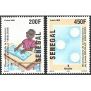 Senegal 2009 - Louis Braille - blind child reading and number 9 - 2 st. MNH