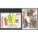 Senegal 2012 - Diplomatic relations with the Vatican - flags - 2 st. MNH