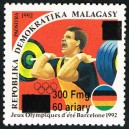1998 - Mi 2102 - Local overprint 300 Fmg - Olympic games Barcelona :  weight lifting - MNH