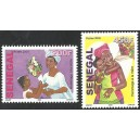 Senegal 2009 - Tribute to the mother - Bouquet of flowers - 2 st. MNH
