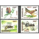 Senegal 2007 / 2010 - Insects: mantis, wasp, grasshopper, ant - 4 st. MNH
