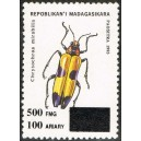 1998 - Mi 2118 - surcharge locale 500 Fmg - Insecte **