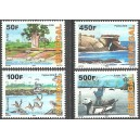 Senegal 2009 - Senegalese Islands - Birds, fisherman, baobab - 4 st. MNH